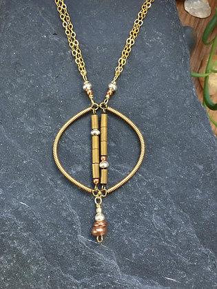 Short Double Helix Necklace