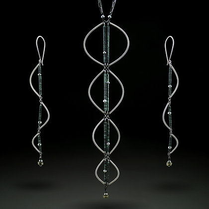 Long Double Helix Necklace