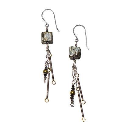 BouldER Pyrite Earrings
