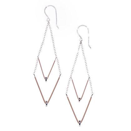 Double Chevron Earrings
