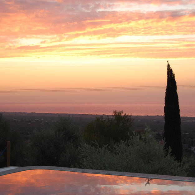 West-facing with guaranteed spectacular sunsets