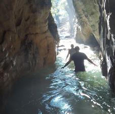 Navigable river caves