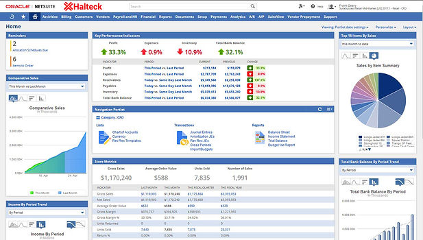 oracle netsuite dashboard mexico
