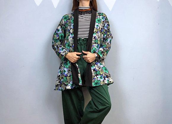 Cardigan Zelda in tessuto in lana vintage a fiori