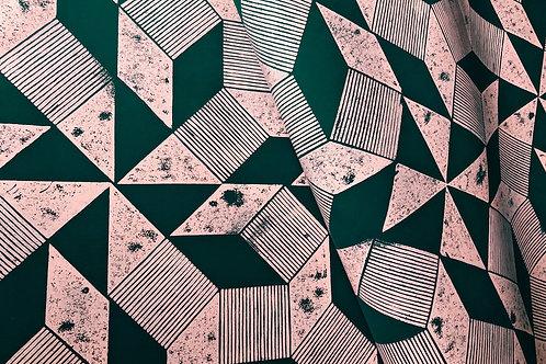 #wallpaper ORIGAMI rose green