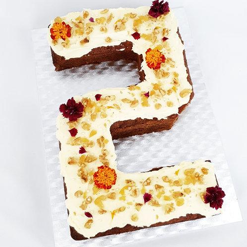 Carrot & Ginger Number Cake
