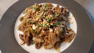Khao Phad : bœuf ou poulet ou crevettes (riz sauté Thaï)