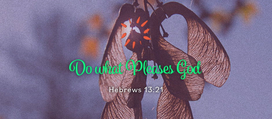 Do what Pleases God