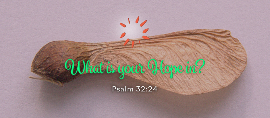 What is your Hope in?