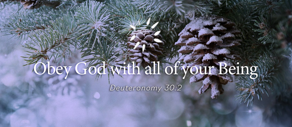Obey God with all of your Being