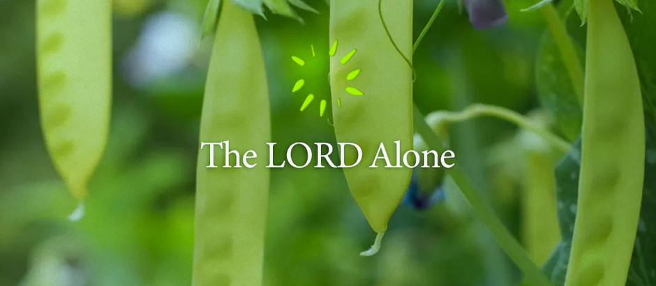 The LORD Alone