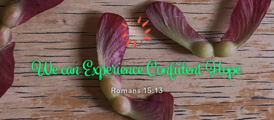 We can Experience Confident Hope