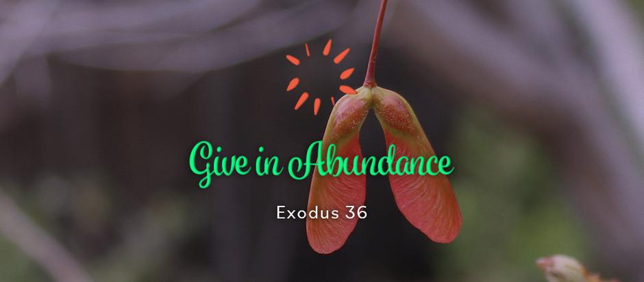 Give in Abundance