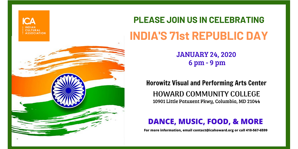 *** CANCELLED *** Celebrate India's 71st Republic Day