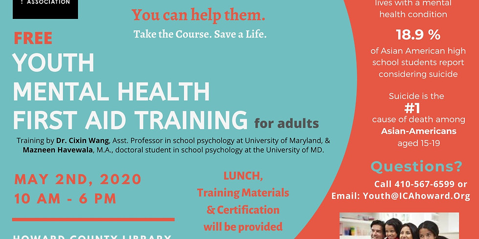 FREE Youth Mental Health First Aid Training for Adults