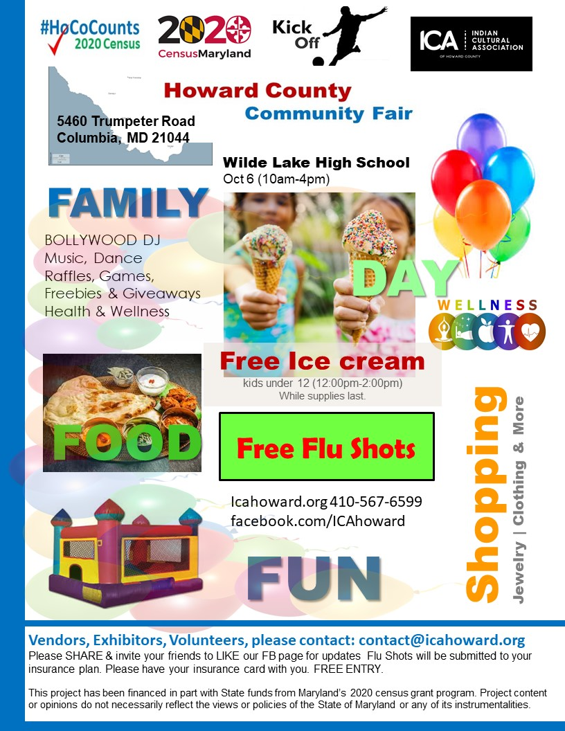Columbia County Fair 2020.Howard Community Fair Census Kickoff Family Fun Event