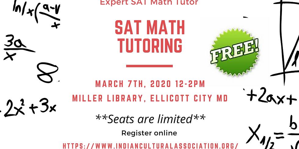 Free SAT Math Tutoring