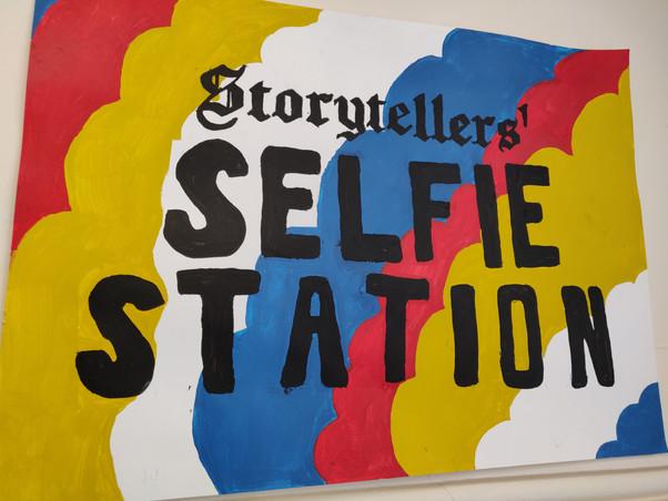 Hannah and Tom's Storytellers' Selfie Station