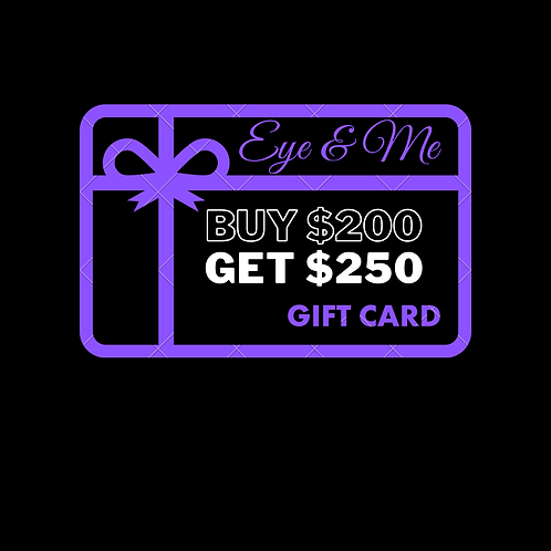 Gift Card Buy $200, Get $250