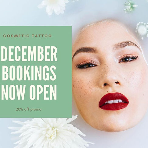 December bookings are now available! 🤩_