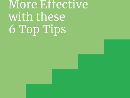 Have more effective meetings with these 6 Top-tips.