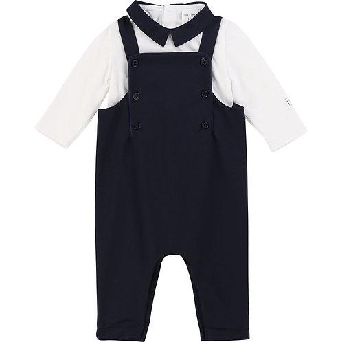 Carrément Beau Baby Latzhose & Langarm Shirt