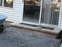 Paver steps and the foundation