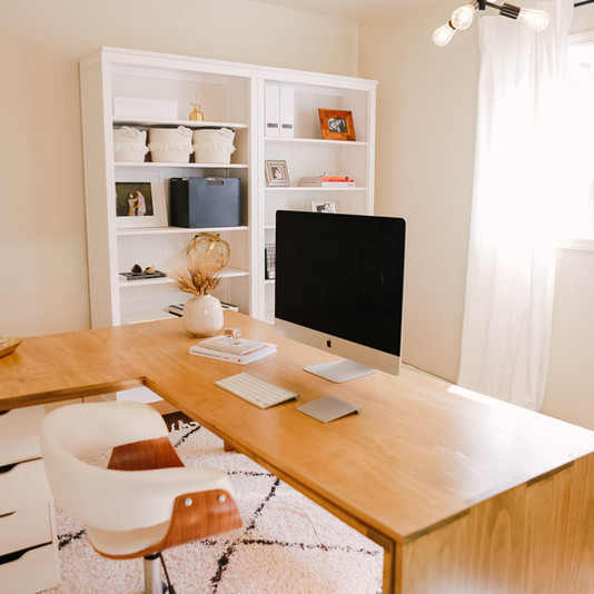 How to style office shelves