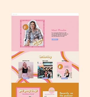 Girl Gang Craft custom WIX web design and development | Quixotic Design Co.