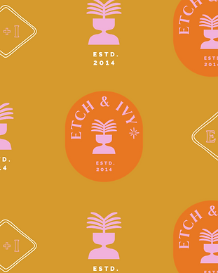 Etch & Ivy interior design custom brand identity design and development | Quixotic Design Co.