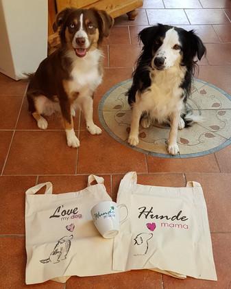 Hundetasse und Hunde Jute Beutel
