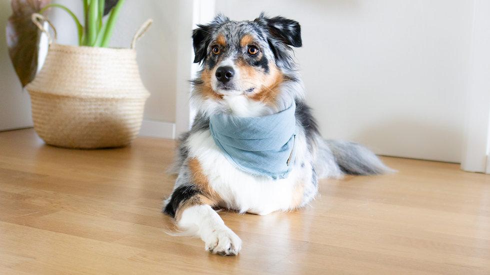 Halstuch aus Bio Baumwolle - blau