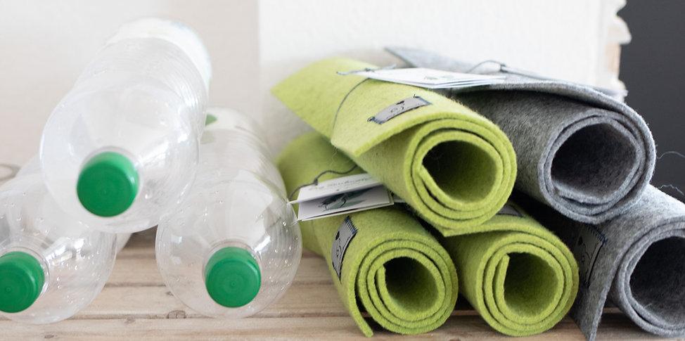 Filz Napfunterlage aus recycelten PET Flaschen