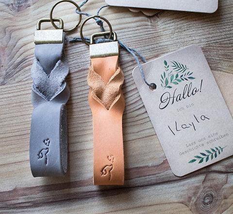 Schlüsselanhänger Kayla aus rhabarberleder - groß