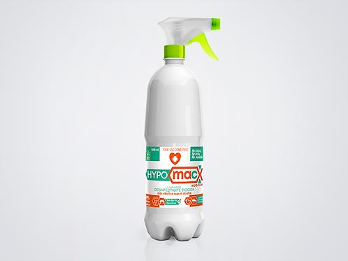 Hypomacx 1 Litro Spray, Desinfectante Multiusos solución de Ácido Hipocloroso.
