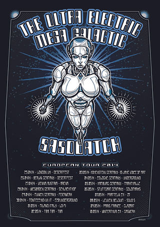 THE ULTRA ELECTRIC MEGA GALACTIC..Live in Europe 2014