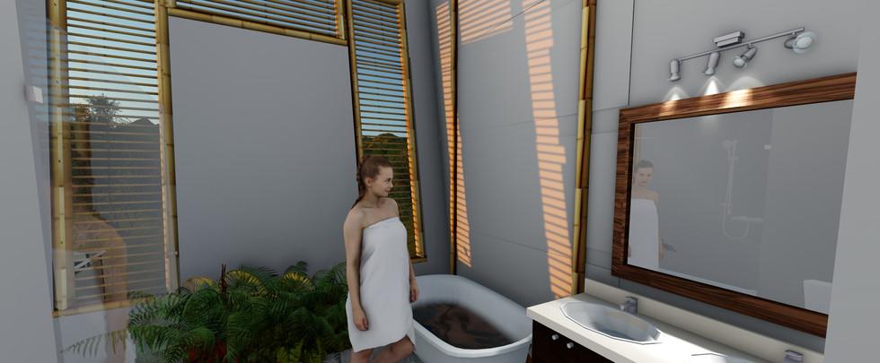 baño casa blanca