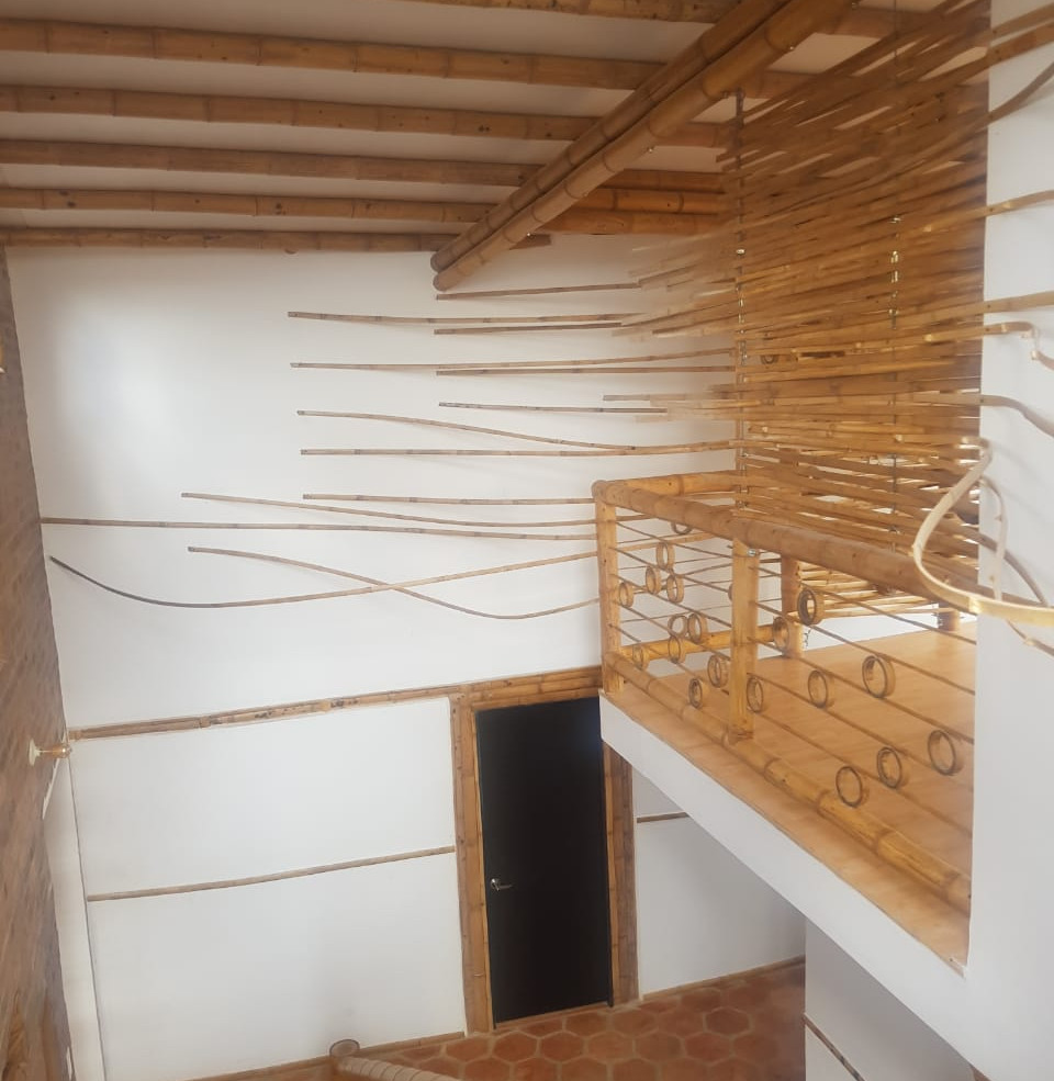 details balcony guadua bambu villa monic
