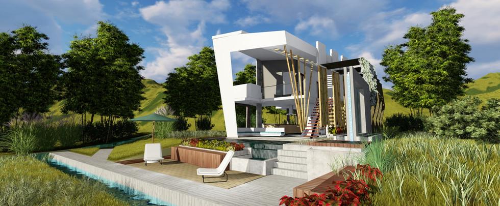 Casa blanca minimalista Disarte