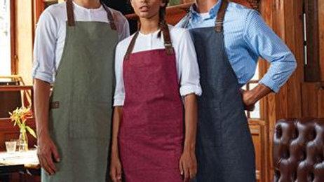 Rustic bib apron with pocket