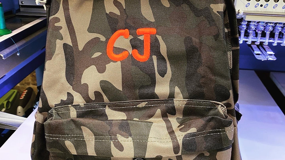 Camo Personalised Backpack