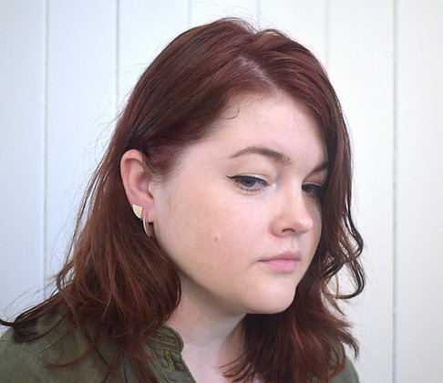 Silver Wedge Earrings