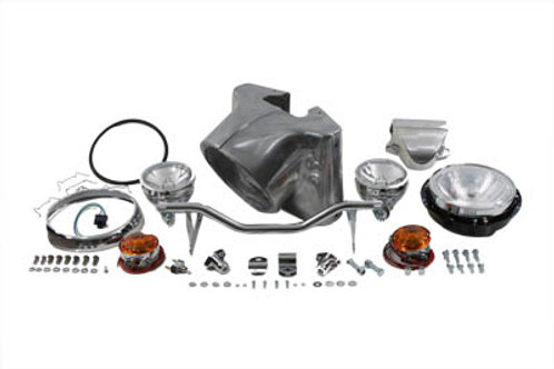 "7"" Headlamp Cowl Kit, Polished 1960-1984"