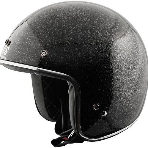 Speed Metal Black, Gold, Red, Orange Gloss Helmet