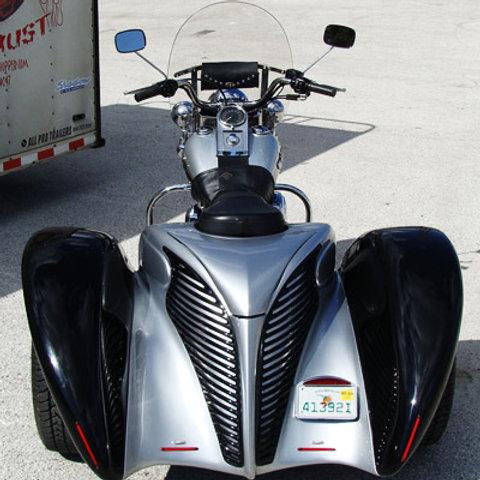 Softail trike conversion kit with body