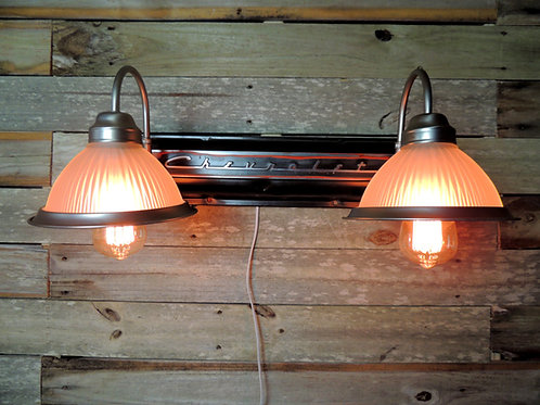 Industrial Chevrolet engine valve cover wall lamp