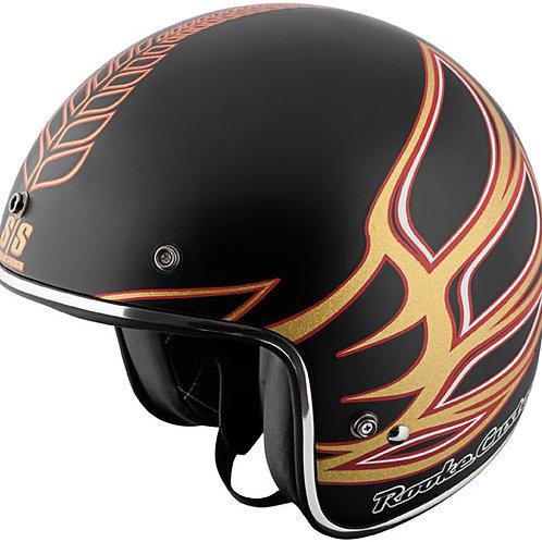 Rooke customs matte Black/Gold Helmet