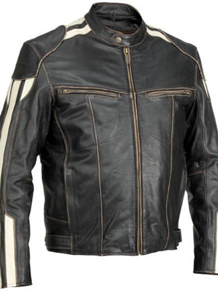 men Roadster vintage leather jacket