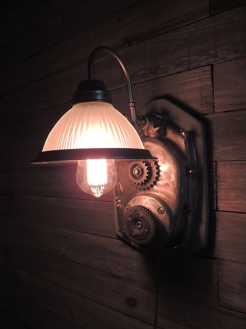 VINTAGE B.S.A. PRIMARY WALL LAMP