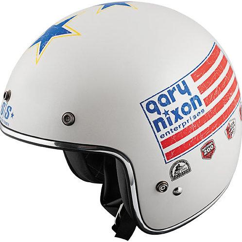 Gary Nixon replica White/Blue Helmet